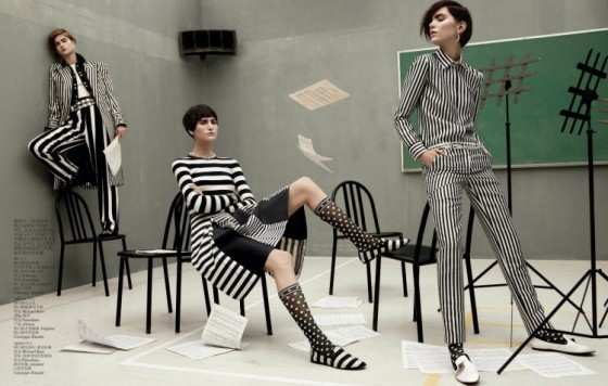 black and white louis vuitton vogue China